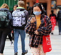 Members of the public wear face coverings while out shopping in London.†Prime Minister Boris Johnson has announced a new three tier lockdown system because of the the increasing levels of coronavirus infections in the UK. London October 14th 2020<br /> CAP/ROS<br /> ©ROS/Capital Pictures