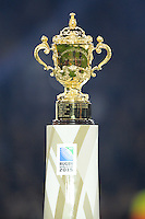 The Webb Ellis trophy on display at the end of the Rugby World Cup Final between New Zealand and Australia - 31/10/2015 - Twickenham Stadium, London<br /> Mandatory Credit: Rob Munro/Stewart Communications