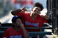 Amado Nunez (18) of the Piedmont Boll Weevils poses for the camera during the game against the Greensboro Grasshoppers at Kannapolis Intimidators Stadium on June 16, 2019 in Kannapolis, North Carolina. The Grasshoppers defeated the Boll Weevils 5-2. (Brian Westerholt/Four Seam Images)