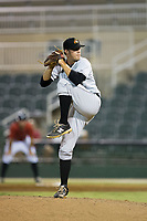 West Virginia Power relief pitcher Matt Anderson (38) in action against the Kannapolis Intimidators at Kannapolis Intimidators Stadium on July 19, 2017 in Kannapolis, North Carolina.  The Power defeated the Intimidators 7-4 in 11 innings.  (Brian Westerholt/Four Seam Images)
