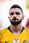 Aziz Behich of Australia is seen prior to the AFC Asian Cup UAE 2019 Group B match between Australia (AUS) and Jordan (JOR) at Hazza Bin Zayed Stadium on 06 January 2019 in Al Ain, United Arab Emirates. Photo by Marcio Rodrigo Machado / Power Sport Images