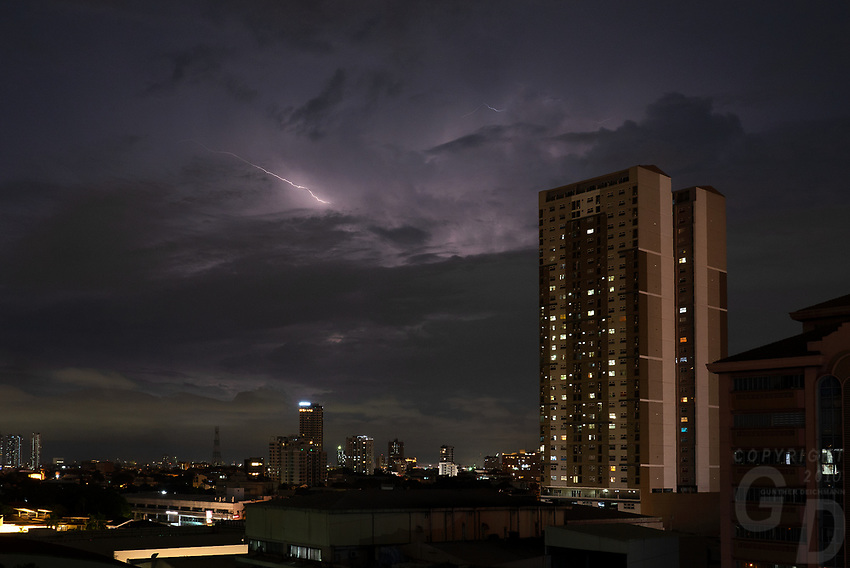 A Lightning storm during the Monsoon season over Manila, Philippines