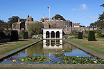Great Britain, England, Kent, Deal, Walmer: The Queen Mothers Garden and Walmer Castle, built in 1539 to 1540 by King Henry 8th