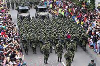 BOGOTA -COLOMBIA , 20- Julio-2016. Desfile Militar con motivo del 206° Aniversario del Día de la Independencia Nacional./ Military parade to mark the 206 anniversary of the National Independence Day. Photo: VizzorImage / Felipe Caicedo / Staff