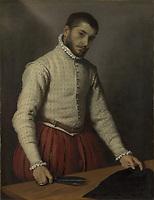 Full title: The Tailor ('Il Tagliapanni')<br /> Artist: Giovanni Battista Moroni<br /> Date made: 1565-70