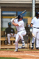 FCL Tigers West Austin Schultz (26) bats during a game against the FCL Yankees on July 31, 2021 at Tigertown in Lakeland, Florida.  (Mike Janes/Four Seam Images)
