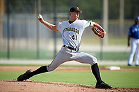Pittsburgh Pirates pitcher Travis MacGregor (41) delivers a pitch during an Instructional League game against the Toronto Blue Jays on October 14, 2017 at the Englebert Complex in Dunedin, Florida.  (Mike Janes/Four Seam Images)
