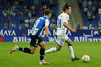 22nd September 2021: RCDE Stadium, Barcelona, Spain: La Liga Football, Espanyol versus Atletico Madrid;  Pellistri breaks away from Pedrosa