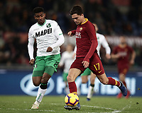 Football, Serie A: AS Roma - US Sassuolo, Olympic stadium, Rome, December 26, 2018. <br /> Roma's Cengiz Under (r) in action with Sassuolo's Da Silva Barbosa Marlon (l) during the Italian Serie A football match between Roma and Sassuolo at Rome's Olympic stadium, on December 26, 2018.<br /> UPDATE IMAGES PRESS/Isabella Bonotto