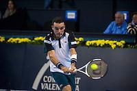 VALENCIA, SPAIN - OCTOBER 28: Roberto Bautista Agut during Valencia Open Tennis 2015 on October 28, 2015 in Valencia , Spain