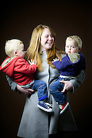 Amy Howard, 34, mum of twins, from Edinburgh.<br /> <br /> 'The boys have dodged the ginger bullet. I grew up in England but now I feel its part of my identity. My hair has not been as red since I dyed it at school. I was blonde for a long time then black. It's not as red as it was.' <br /> <br /> In one class photo there was a bright orange curtain and it was lucky I wasn't on the back row or I would have been camouflaged. It's water off a duck's back today because of the bullies.'<br /> <br /> 'My rebellious post school anti-parent thing was to go blonde… I needed to use bleach which made it go curly. It takes a lot of bleach to dye red hair.'<br /> <br /> 'The boys are very blonde so I wonder if there is some scandinavian blood. Dad and granny was strawberry blonde. When I came back to Scotland I was 21 and blonde. The wonderful thing about living here is it makes me feel more Scottish.'