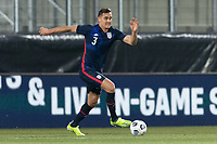 WIENER NEUSTADT, AUSTRIA - MARCH 25: Aaron Long #3 of the United States during a game between Jamaica and USMNT at Stadion Wiener Neustadt on March 25, 2021 in Wiener Neustadt, Austria.