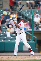 Rochester Red Wings designated hitter Adam Walker (30) at bat during a game against the Indianapolis Indians on May 26, 2016 at Frontier Field in Rochester, New York.  Indianapolis defeated Rochester 5-2.  (Mike Janes/Four Seam Images)
