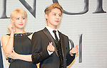"""Hong Seo-Young and Jun-Su (JYJ), Jul 11, 2016 : South Korean musical actress Hong Seo-Young (L) poses with XIA (Junsu) during a news conference promoting their new musical """"Dorian Gray"""" in Seoul, South Korea. The musical is based on Oscar Wilde's novel """"The Picture of Dorian Gray"""" and Junsu will play the lead role Dorian Gray. The creative musical will be opened at Seongnam Arts Center's Opera House in South Korea on September 3, 2016. (Photo by Lee Jae- Won/AFLO) (SOUTH KOREA)"""