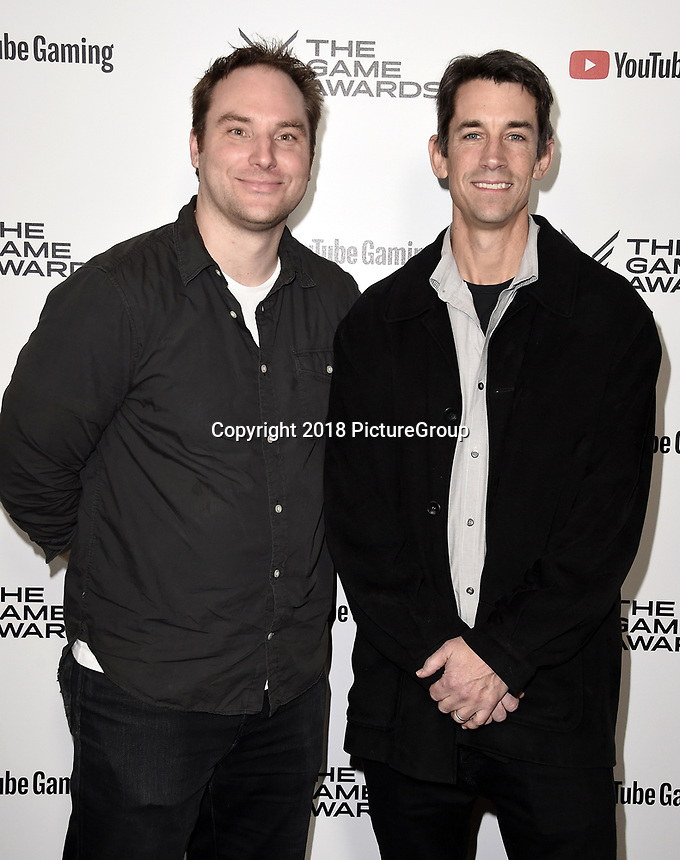 LOS ANGELES - DECEMBER 6: (L-R) Bryan Intihar and Ted Price attend the 2018 Game Awards at the Microsoft Theater on December 6, 2018 in Los Angeles, California. (Photo by Scott Kirkland/PictureGroup)