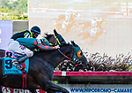 JULY 04, 2021: Super Strong, #9, ridden by Juan Carlos Díaz wins the Copa 4 de Julio (Grade 2) at Hipódromo Camarero in Canóvanas, Puerto Rico on July 04, 2021. Carlos Calo/Eclipse Sportswire/CSM