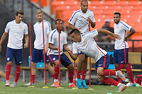 Washington D.C. - Thursday, September 3, 2015: Press conference and the USMNT training in preparation for their international friendly against Peru at RFK Stadium.