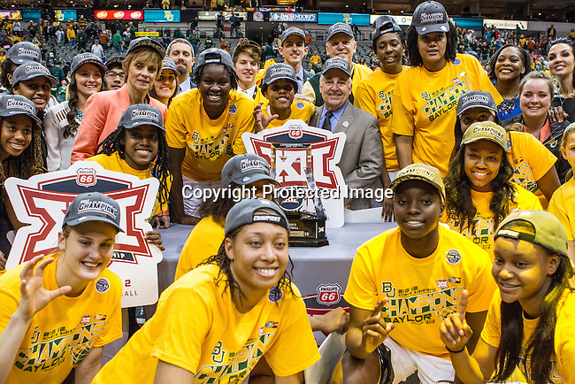 Baylor wins the Big 12 women's basketball championship final, Sunday, March 08, 2015 in Dallas, Tex. (Dan Wozniak/TFV Media via AP Images)