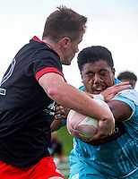 Wil Gualter in action during the 2021 Bunnings Super Rugby Aotearoa Under-20 rugby match between the Chiefs and Crusaders at Owen Delaney Park in Taupo, New Zealand on Tuesday, 14 April 2021. Photo: Dave Lintott / lintottphoto.co.nz