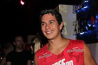 SAO PAULO, SP, 19 DE FEVEREIRO 2012 - CAMAROTE BAR BRAHMA - O reporter jornalista Ivan More  e visto no Camarote Bar Brahma, no primeiro dia de desfiles do Grupo Especial do Carnaval de Sao Paulo, na madrugada deste domingo 19, no Sambodromo do Anhembi regiao norte da capital paulista. (FOTO: MILENE CARDOSO - BRAZIL PHOTO PRESS).