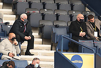 20th April 2021; Deepdale, Preston, Lancashire, England; English Football League Championship Football, Preston North End versus Derby County; Peter Ridsdale, adviser to the owners of Preston North End follows the action from his seat in the directors' box