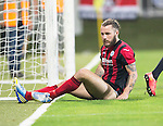 Spartak Trnava v St Johnstone...07.08.14  Europa League Qualifier 3rd Round<br /> Stevie May after his late chance went just wide of the post<br /> Picture by Graeme Hart.<br /> Copyright Perthshire Picture Agency<br /> Tel: 01738 623350  Mobile: 07990 594431