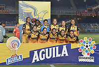 CALI - COLOMBIA, 24-09-2019: Jugadoras del Medellín posan para una foto previo al partido por la final ida de la Liga Femenina Aguila 2019 entre América de Cali e Independiente Medellín jugado en el estadio Pascual Guerrero de la ciudad de Cali. / Players of Medellin pose to a photo prior first leg final match as part of Aguila Women League 2019 between America de Cali and Independiente Medellin played at Pascual Guerrero stadium in Cali. Photo: VizzorImage / Gabriel Aponte / Staff