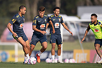 7th October 2020; Granja Comary, Teresopolis, Rio de Janeiro, Brazil; Qatar 2022 qualifiers; Matheus Cunha and Bruno Guimaraes of Brazil during training session