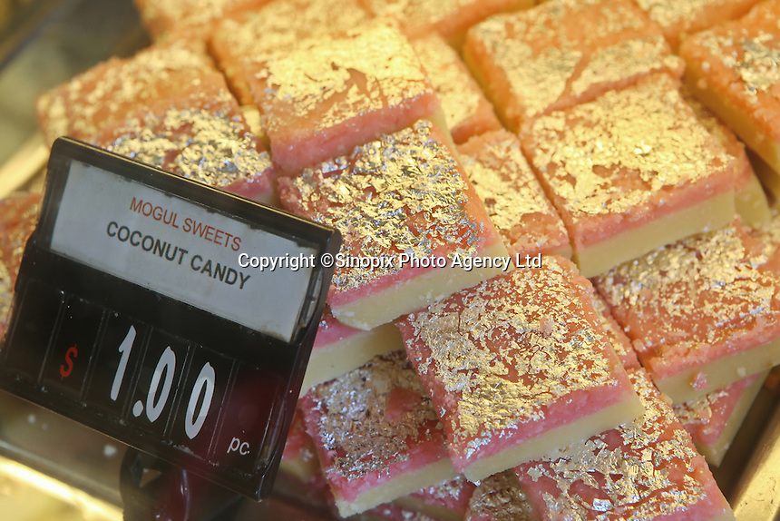 Indian stores selling sweets and deserts in an area of  Singapore known as Little India, Singapore, 14 March 2015.