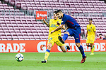Luis Suarez of FC Barcelona (R) in action during the La Liga 2017-18 match between FC Barcelona and Las Palmas at Camp Nou on 01 October 2017 in Barcelona, Spain. (Photo by Vicens Gimenez / Power Sport Images