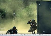 U.S. Marines assault and rescue operation, Camp Lejeune, North Carolina..