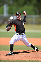 Miami Marlins pitcher Matt Tomshaw  (51) during a minor league spring training game against the St. Louis Cardinals on March 31, 2015 at the Roger Dean Complex in Jupiter, Florida.  (Mike Janes/Four Seam Images)