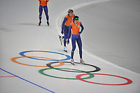 OLYMPIC GAMES: PYEONGCHANG: 17-02-2018, Gangneung Oval, Long Track, Training session, Patrick Roest (NED), Koen Verweij (NED), ©photo Martin de Jong