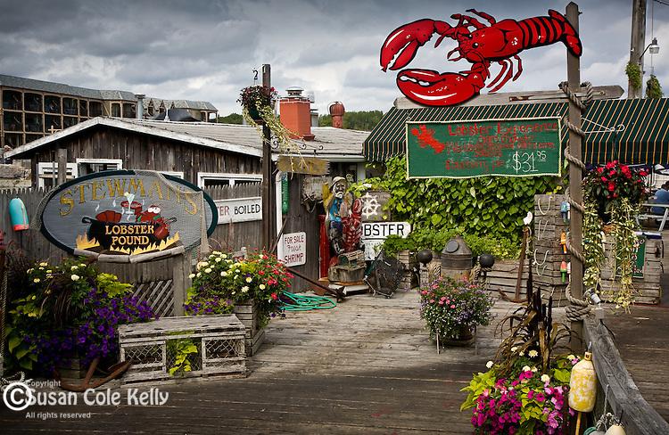 Stewmans Lobster restaurant, Bar Harbor, ME, USA