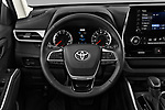 Car pictures of steering wheel view of a 2020 Toyota Highlander LE 5 Door SUV