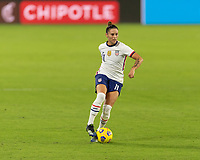 ORLANDO, FL - JANUARY 22: Ali Krieger #11 controls the ball during a game between Colombia and USWNT at Exploria stadium on January 22, 2021 in Orlando, Florida.