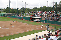 STANFORD, CA - May 3:  The Boyd and Jill Smith Family Stadium softball facility of the Stanford Cardinal during Stanford's 2-1 win over the Arizona Wildcats at Boyd and Jill Smith Family Stadium on May 3, 2009 in Stanford, California.