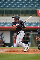 Jupiter Hammerheads James Nelson (20) at bat during a Florida State League game against the Florida Fire Frogs on April 8, 2019 at Osceola County Stadium in Kissimmee, Florida.  Florida defeated Jupiter 7-6 in ten innings.  (Mike Janes/Four Seam Images)