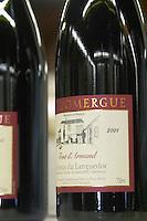 Mas Domergue, cuvee Font d'Armand. Domaine Mas Domergue, in Sussargues. Gres de Montpellier. Languedoc. France. Europe. Bottle.