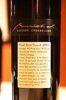 Marichal Reserve Collection Pinot Noir Tannat 2003 vinedo Etchevarria Canelones. Uruguay wine production institute Instituto Nacional de Vitivinicultura INAVI Montevideo, Uruguay, South America