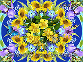 Lori, FLOWERS, BLUMEN, FLORES, paintings+++++Blue and Purple Flowers_3_72,USLS06,#F#, EVERYDAY ,puzzles