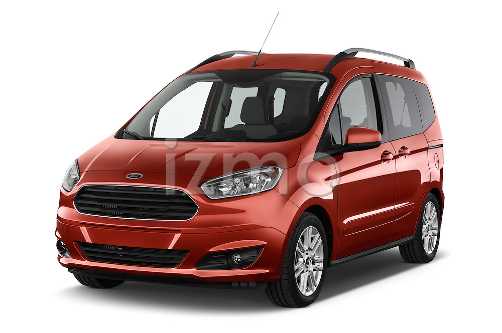2015 Ford Tourneo Courier Titanium 5 Door Minimpv Angular Front stock photos of front three quarter view