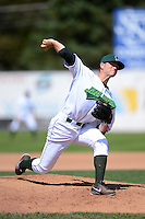 Jamestown Jammers pitcher Buddy Borden (35) during a game against the Brooklyn Cyclones on August 4, 2013 at Russell Diethrick Park in Jamestown, New York.  Jamestown defeated Brooklyn 9-5.  (Mike Janes/Four Seam Images)