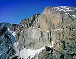 "The ""Diamond"" rock face on Longs Peak, Rocky Mountain National Park, Colorado."