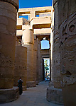 Luxor, Egypt -- The great hypostyle hall in Karnak Temple.  Karnak was built over many generations of Egyptian pharaoh, as each successive king added pieces to this temple honoring the most significant god of the ancient Egyptian pantheon, the god Amun (later, Amon-Ra), the sun god. © Rick Collier / RickCollier.com