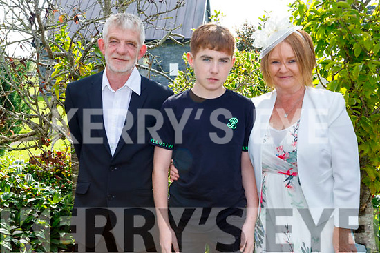 James Demsey with his parents James and Martina at his Confirmation in St Gertrude's Firies on Saturday.
