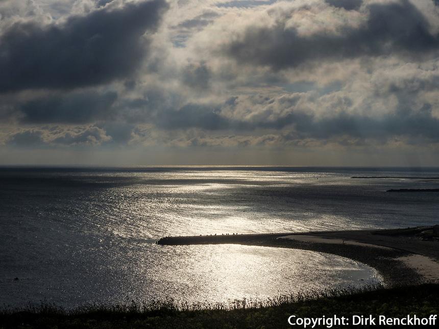 Sonnenaufgang über Nordstrand und Düne,  Insel Helgoland, Schleswig-Holstein, Deutschland, Europa<br /> Sunrise with northern beach and dune, Helgoland island, district Pinneberg, Schleswig-Holstein, Germany, Europe