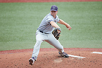 Old Dominion Monarchs starting pitcher Tommy Gertner (44) in action against the Charlotte 49ers at Hayes Stadium on April 23, 2021 in Charlotte, North Carolina. (Brian Westerholt/Four Seam Images)