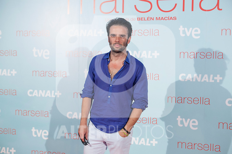 Raul Pena poses at `Marsella´ film premiere photocall at Capital cinema in Madrid, Spain. July 17, 2014. (ALTERPHOTOS/Victor Blanco)