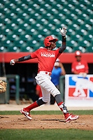 Felix Taveras (16) during the Dominican Prospect League Elite Underclass International Series, powered by Baseball Factory, on August 1, 2017 at Silver Cross Field in Joliet, Illinois.  (Mike Janes/Four Seam Images)